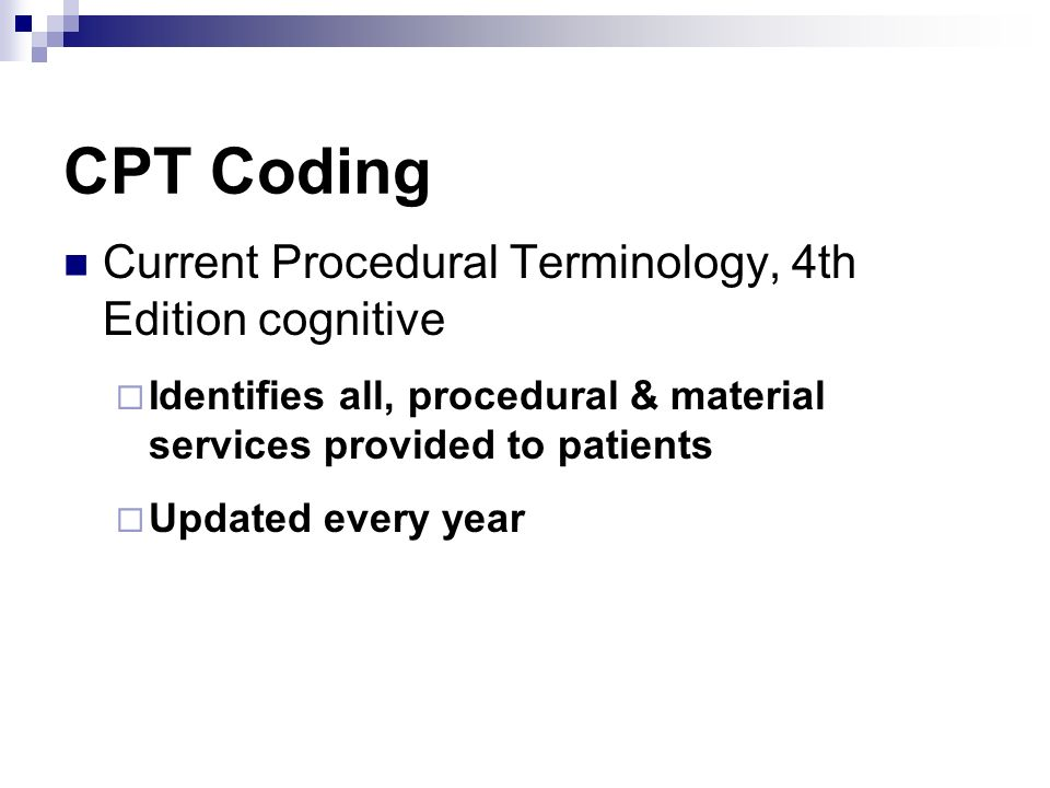 CPT Coding Current Procedural Terminology, 4th Edition cognitive