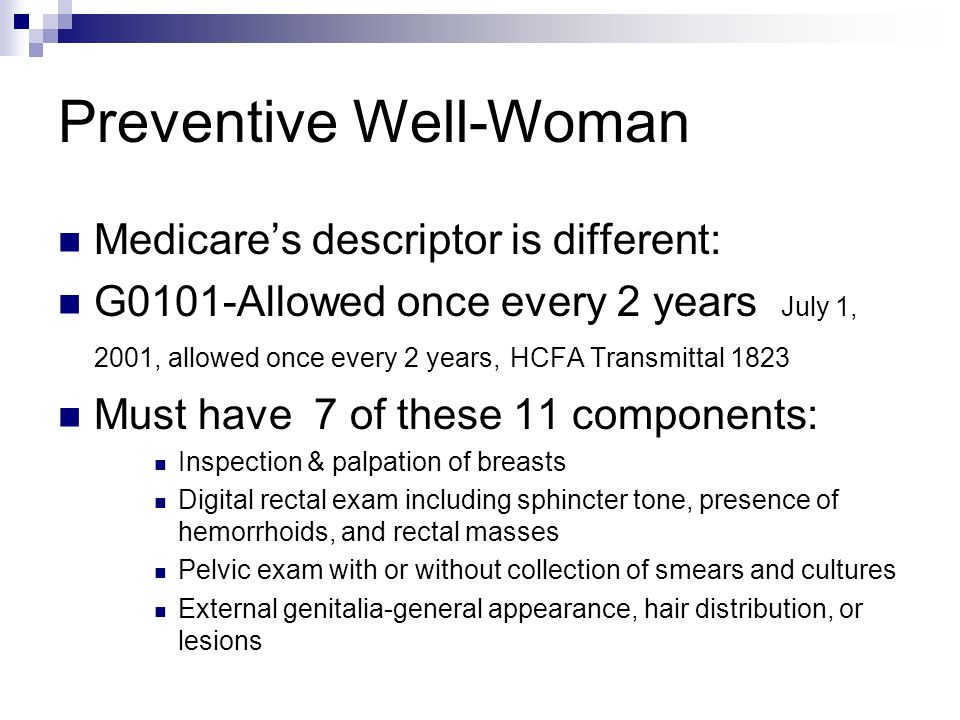 Preventive Well-Woman