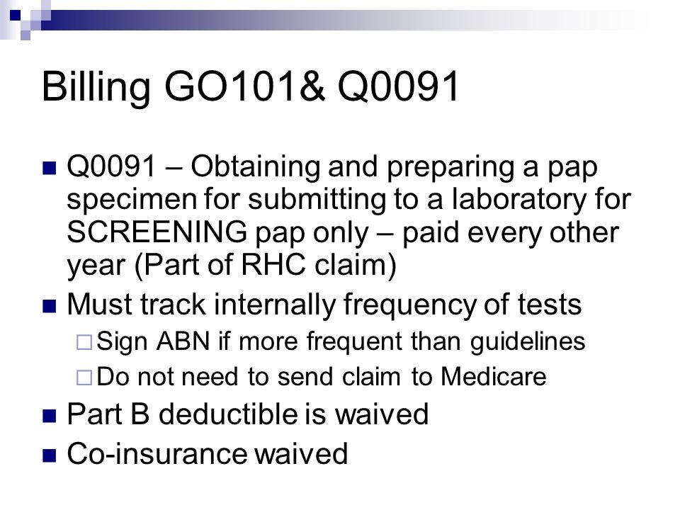Billing GO101& Q0091