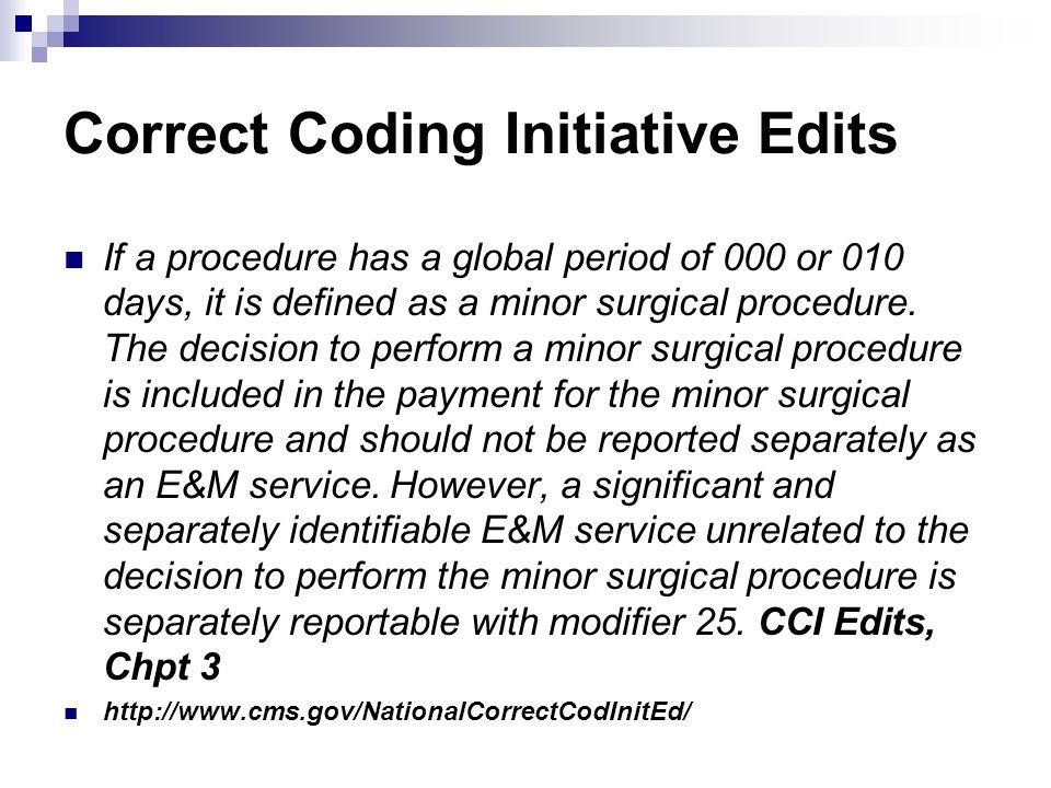 Correct Coding Initiative Edits