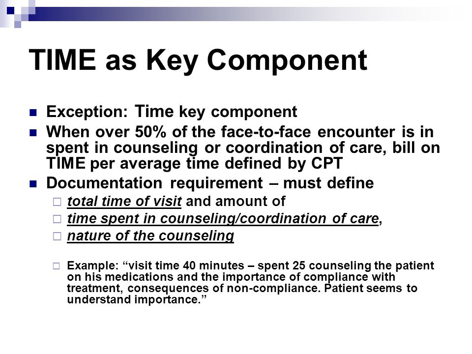 TIME as Key Component Exception: Time key component