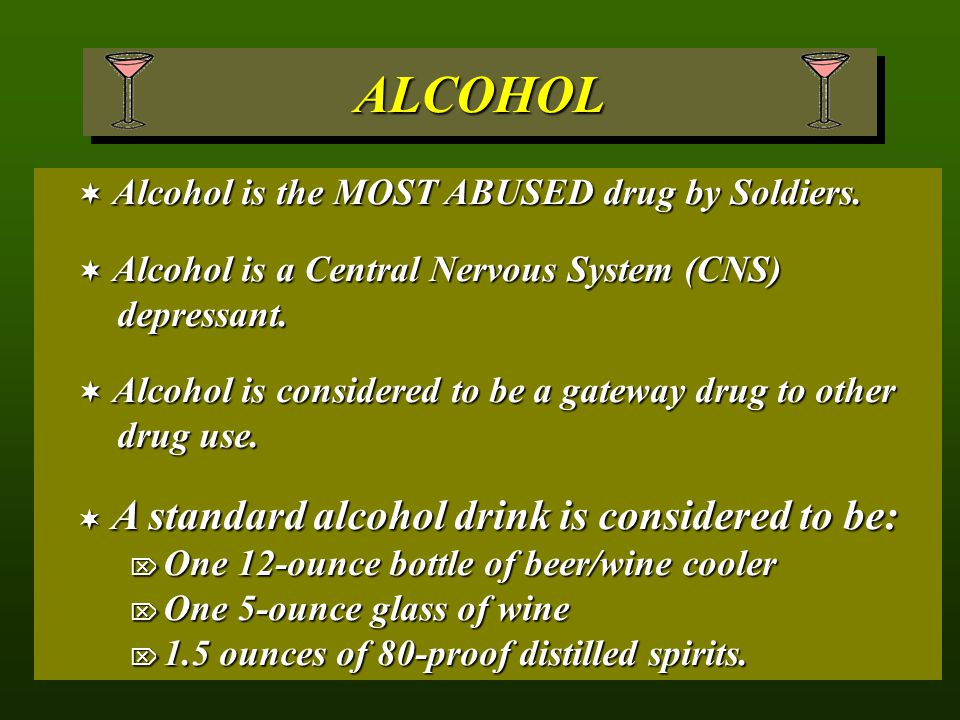 ALCOHOL A standard alcohol drink is considered to be: