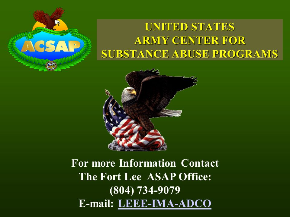 UNITED STATES ARMY CENTER FOR SUBSTANCE ABUSE PROGRAMS