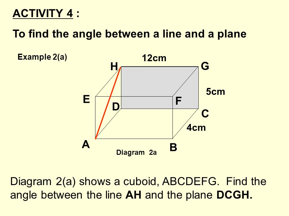 To find the angle between a line and a plane