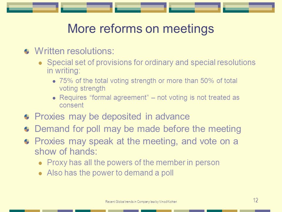 More reforms on meetings