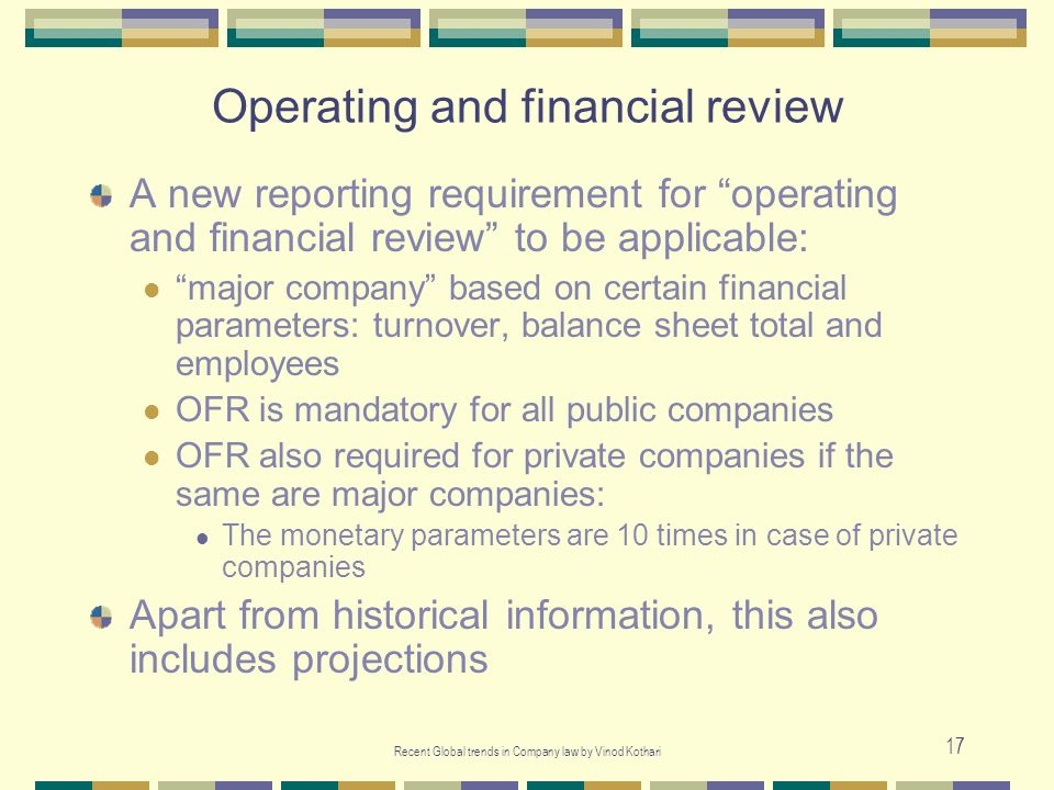 Operating and financial review