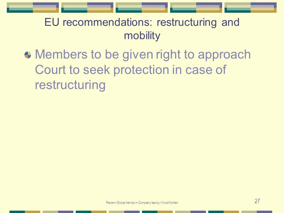 EU recommendations: restructuring and mobility