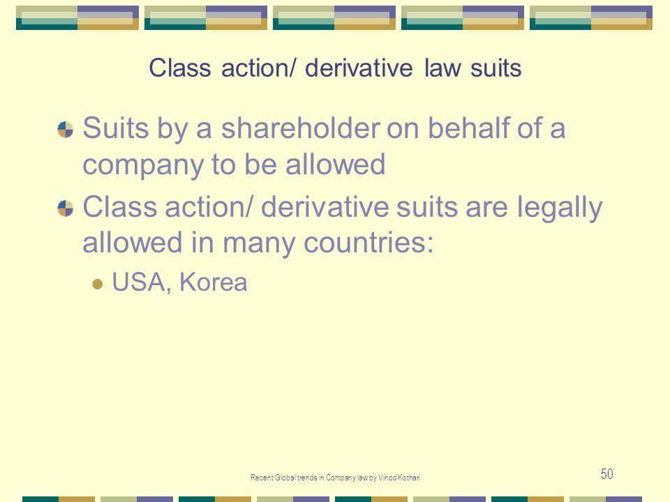 Class action/ derivative law suits