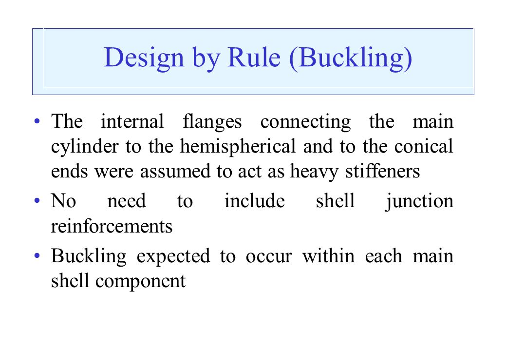 Design by Rule (Buckling)