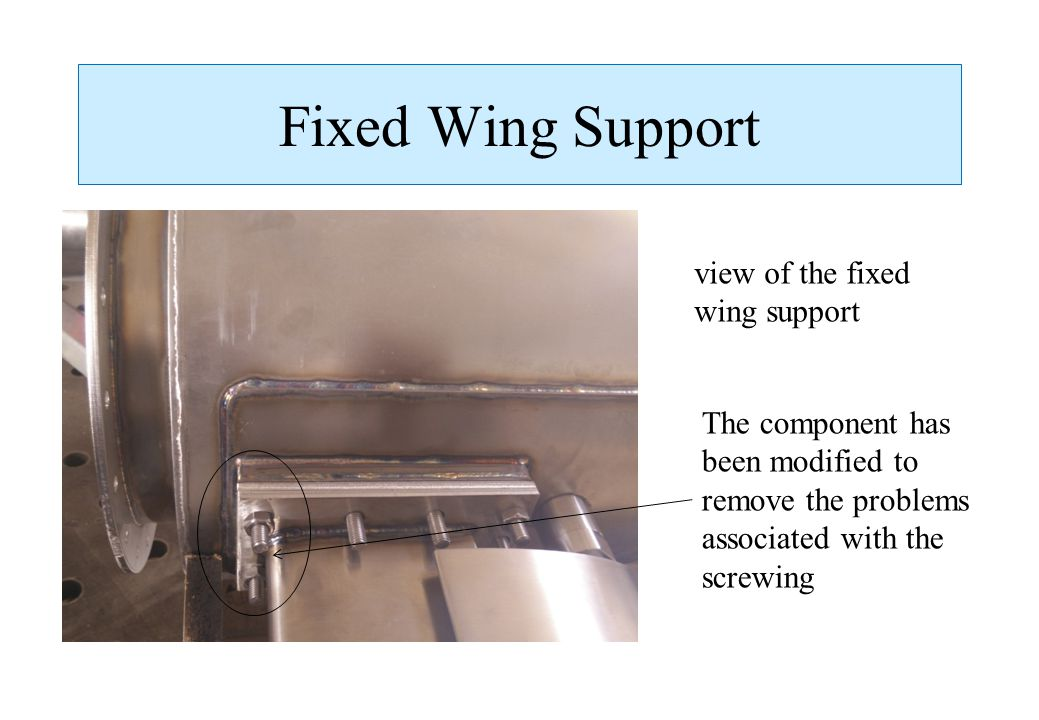 Fixed Wing Support view of the fixed wing support