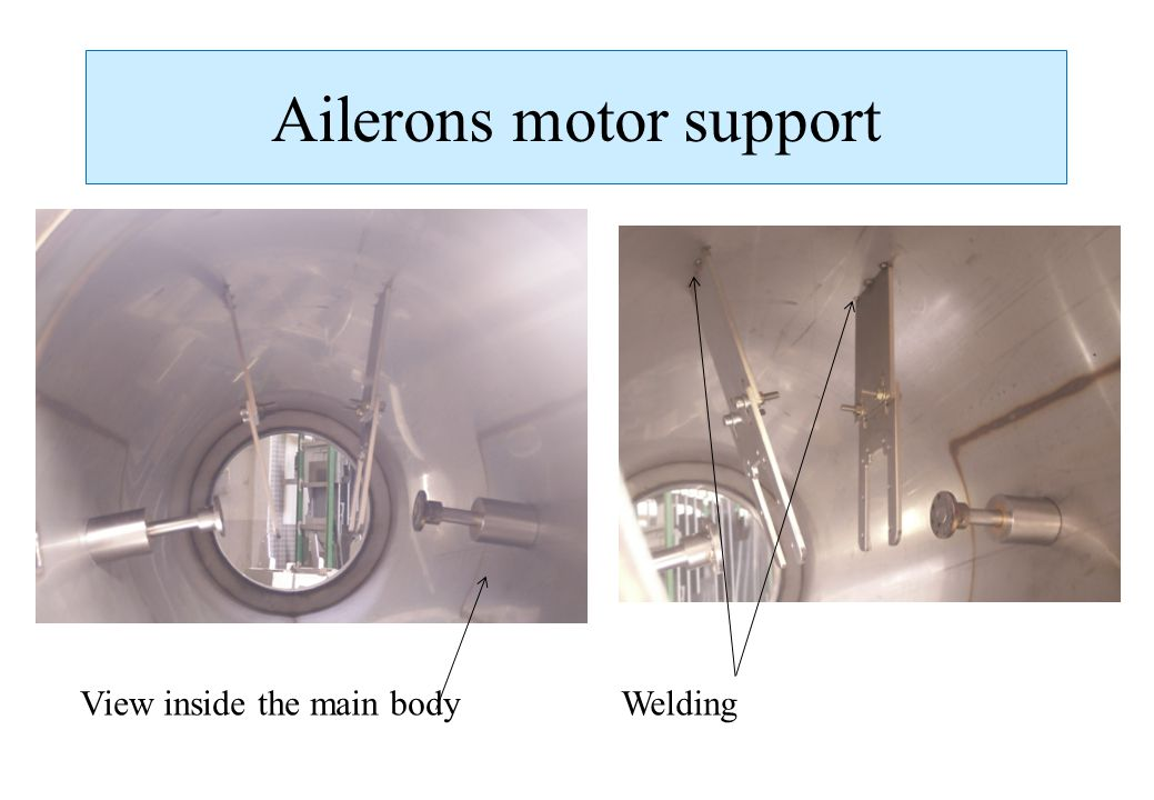 Ailerons motor support