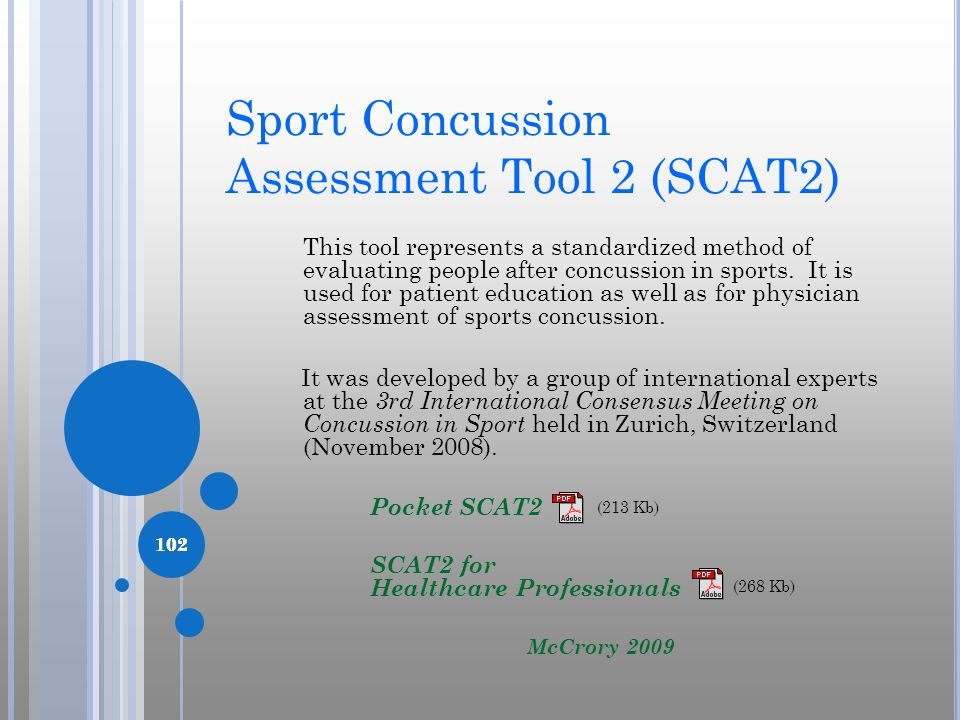 Sport Concussion Assessment Tool 2 (SCAT2)