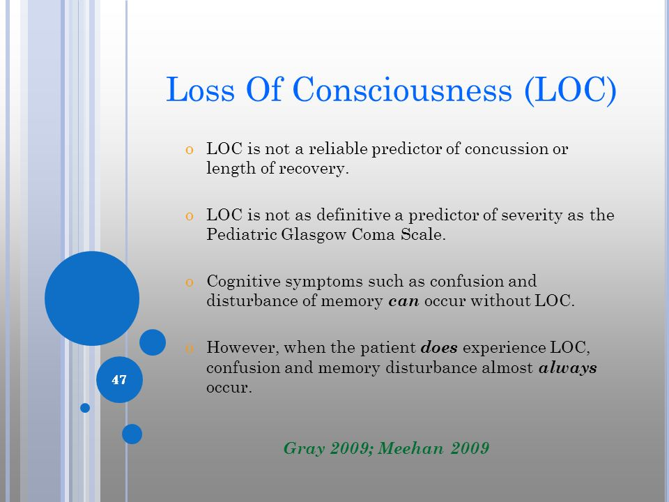 Loss Of Consciousness (LOC)
