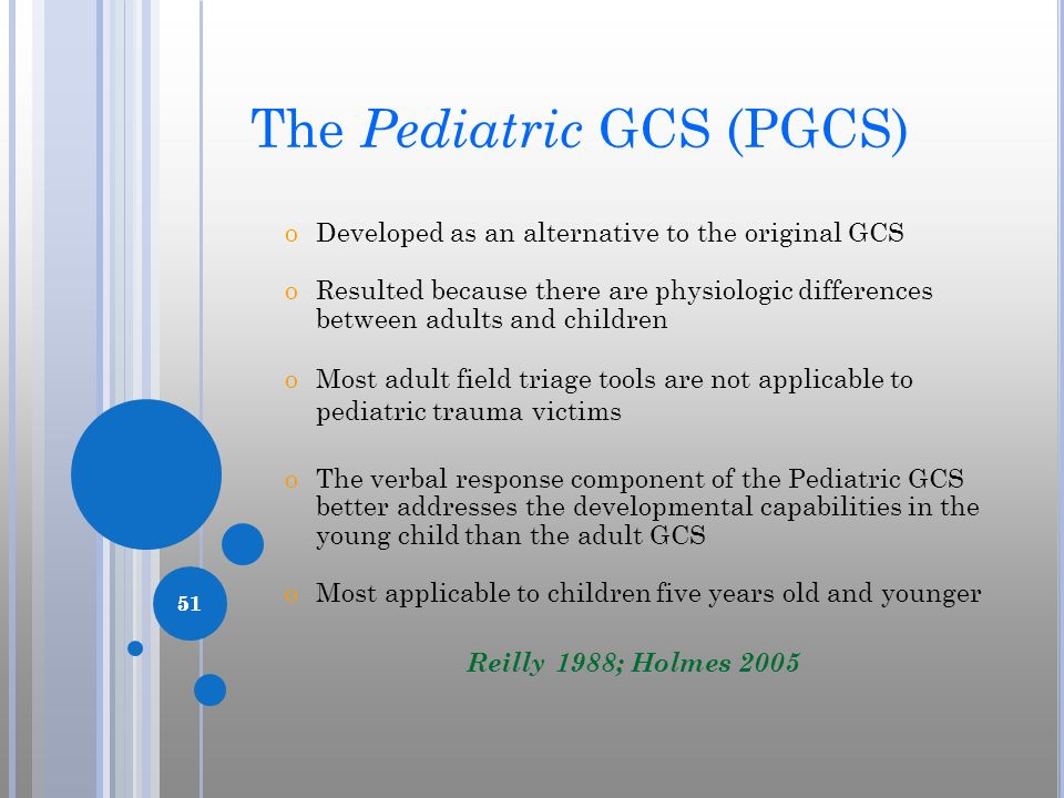 The Pediatric GCS (PGCS)