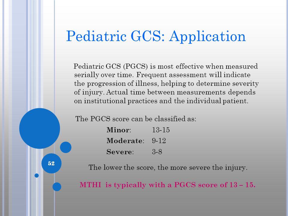 Pediatric GCS: Application
