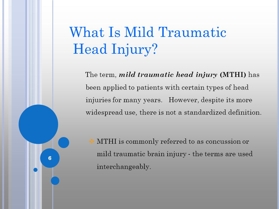 What Is Mild Traumatic Head Injury