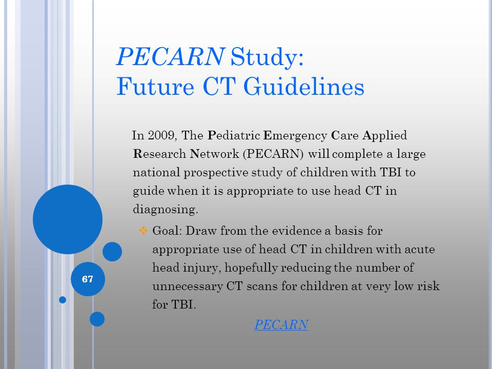PECARN Study: Future CT Guidelines