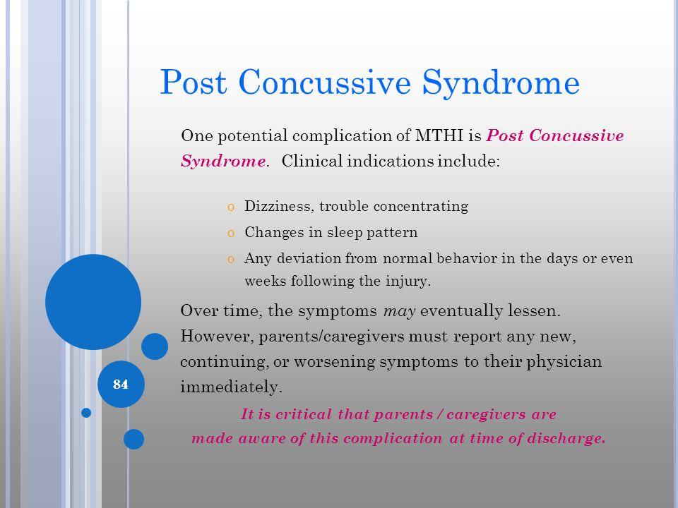 Post Concussive Syndrome