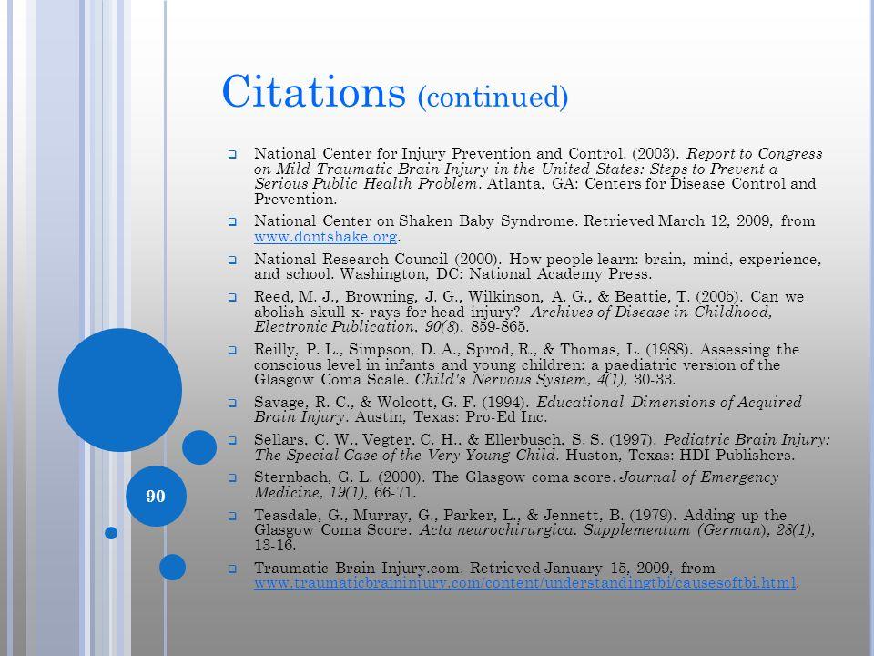 Citations (continued)