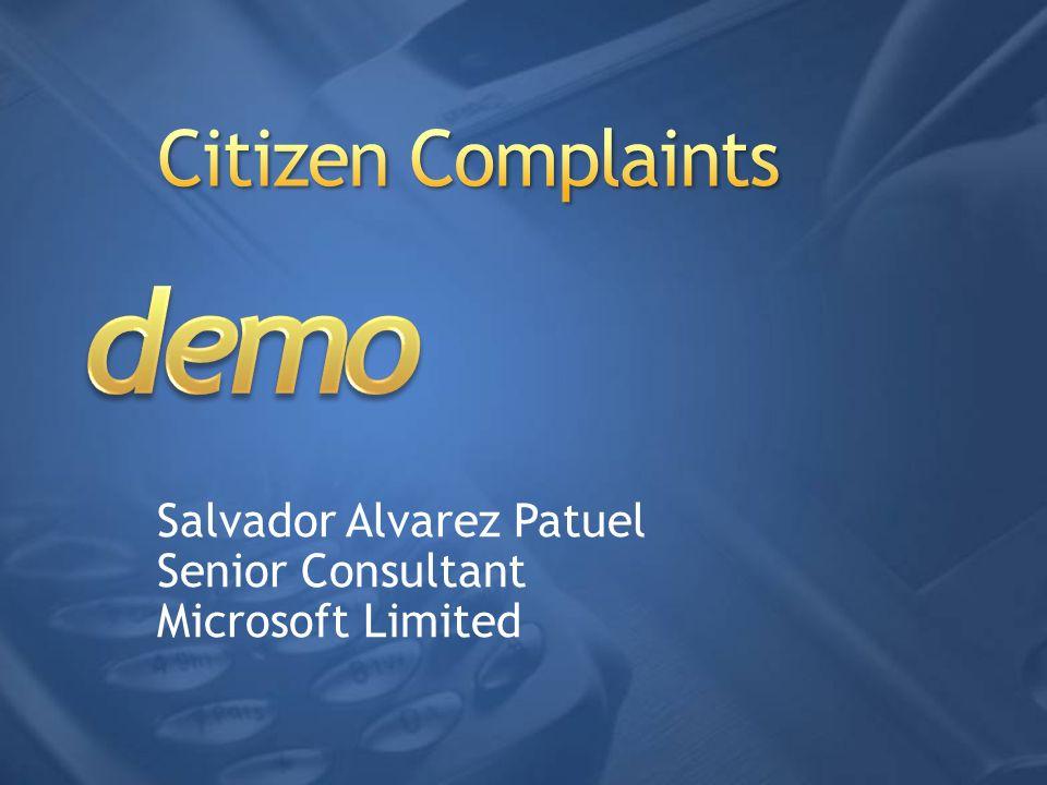 Salvador Alvarez Patuel Senior Consultant Microsoft Limited
