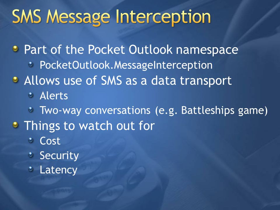 SMS Message Interception