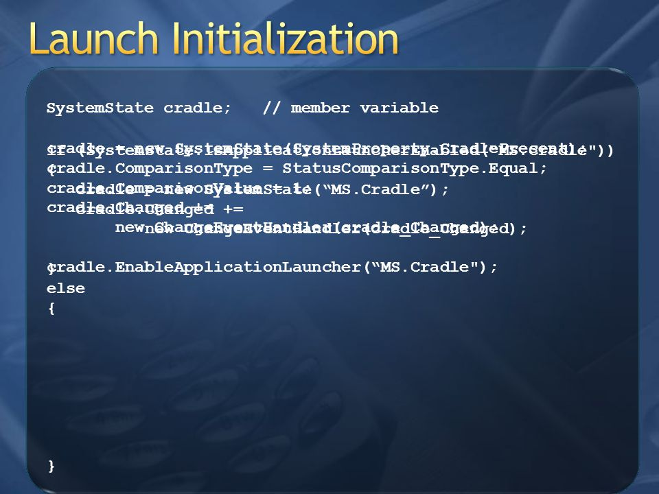 Launch Initialization