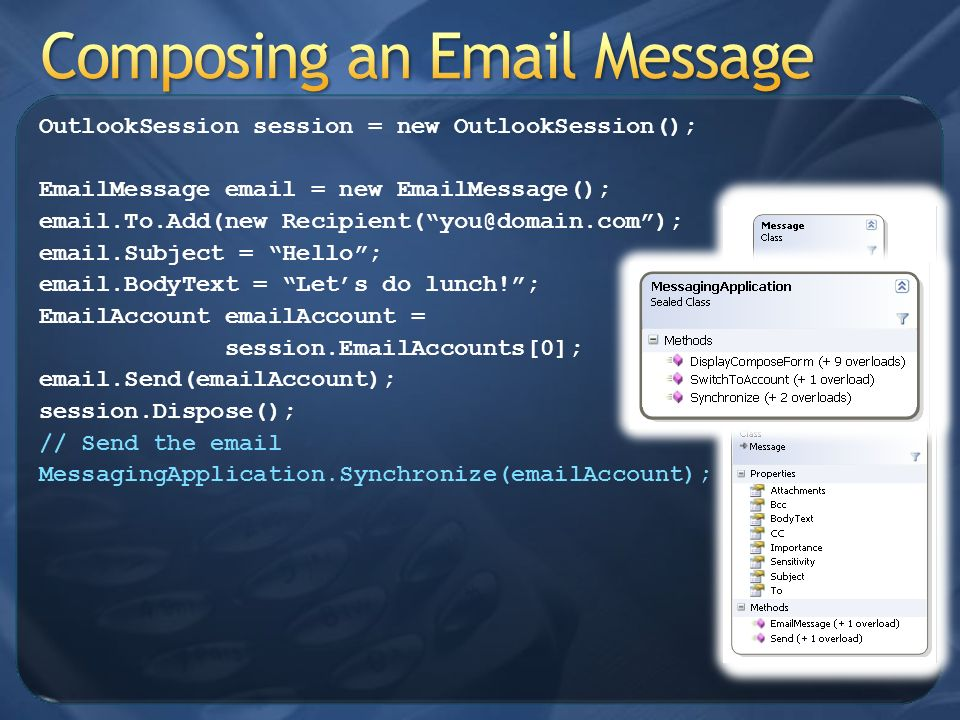 Composing an Email Message