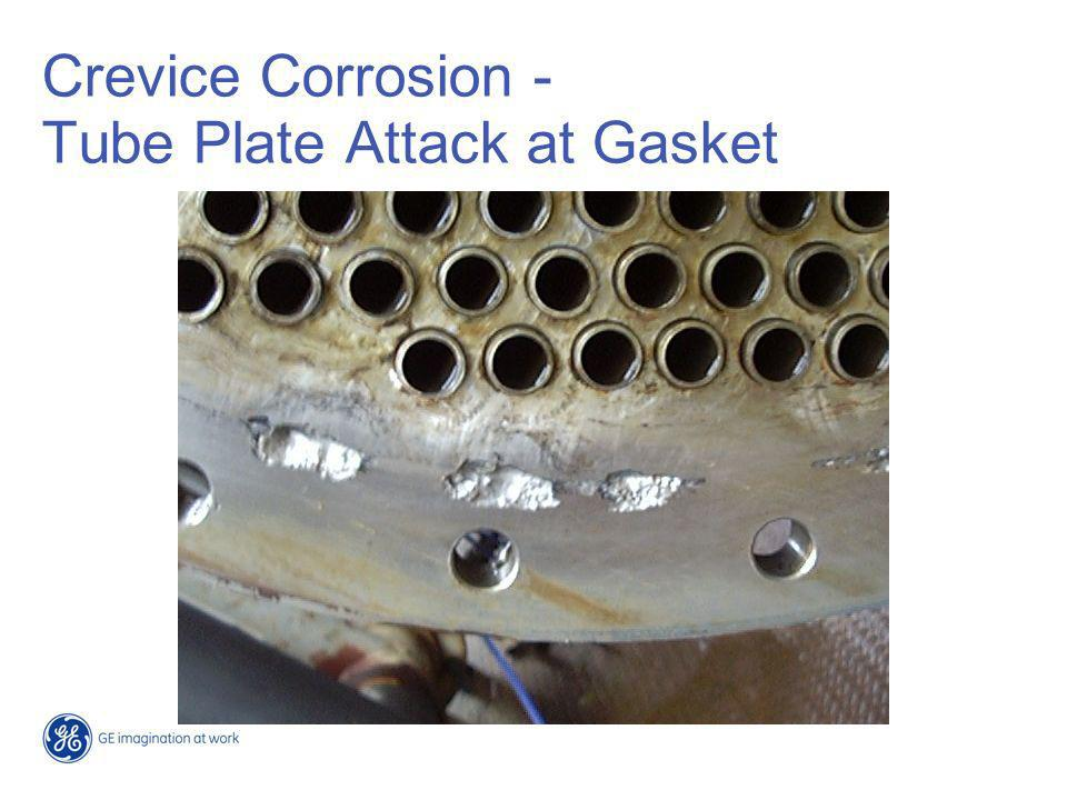 Crevice Corrosion - Tube Plate Attack at Gasket
