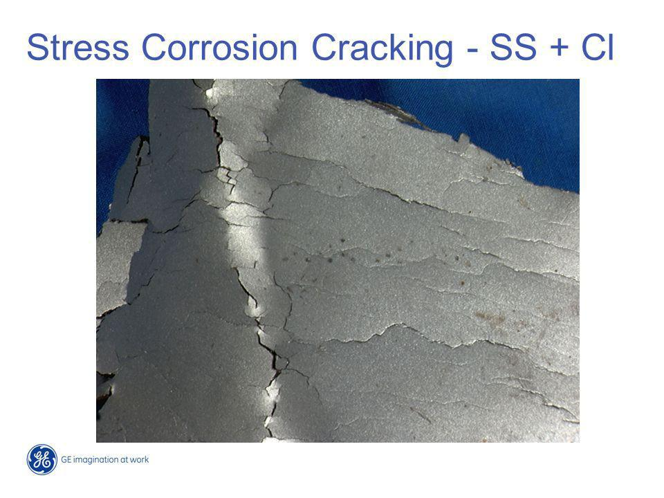 Stress Corrosion Cracking - SS + Cl