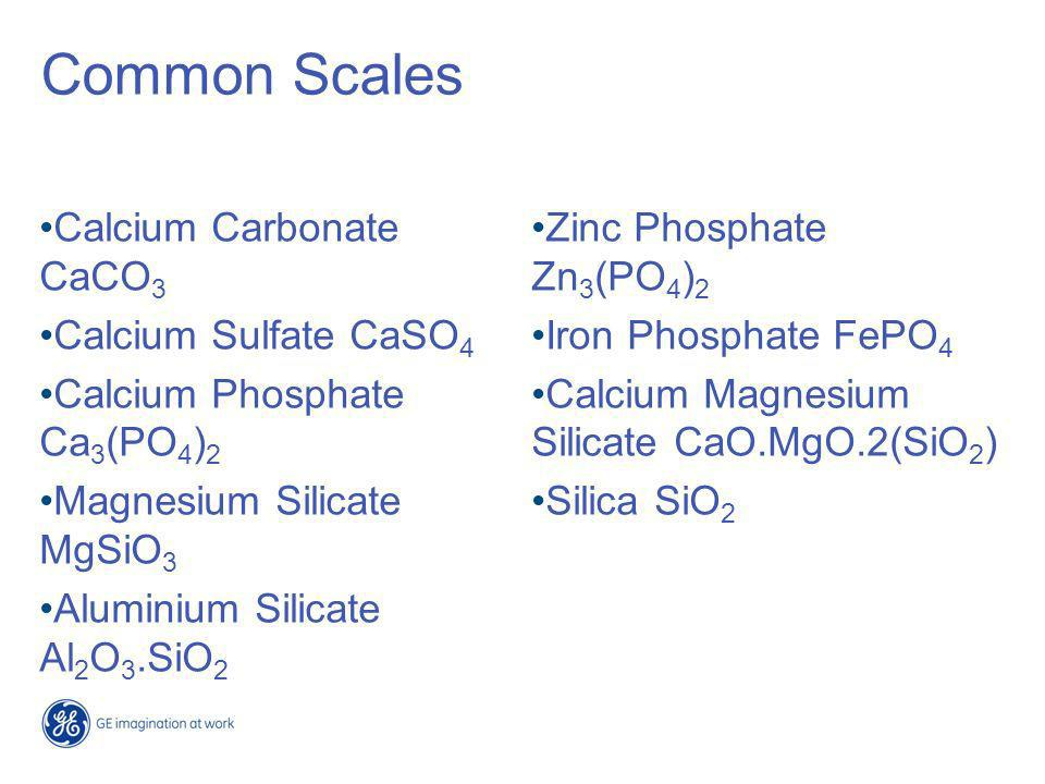 Common Scales Calcium Carbonate CaCO3 Calcium Sulfate CaSO4
