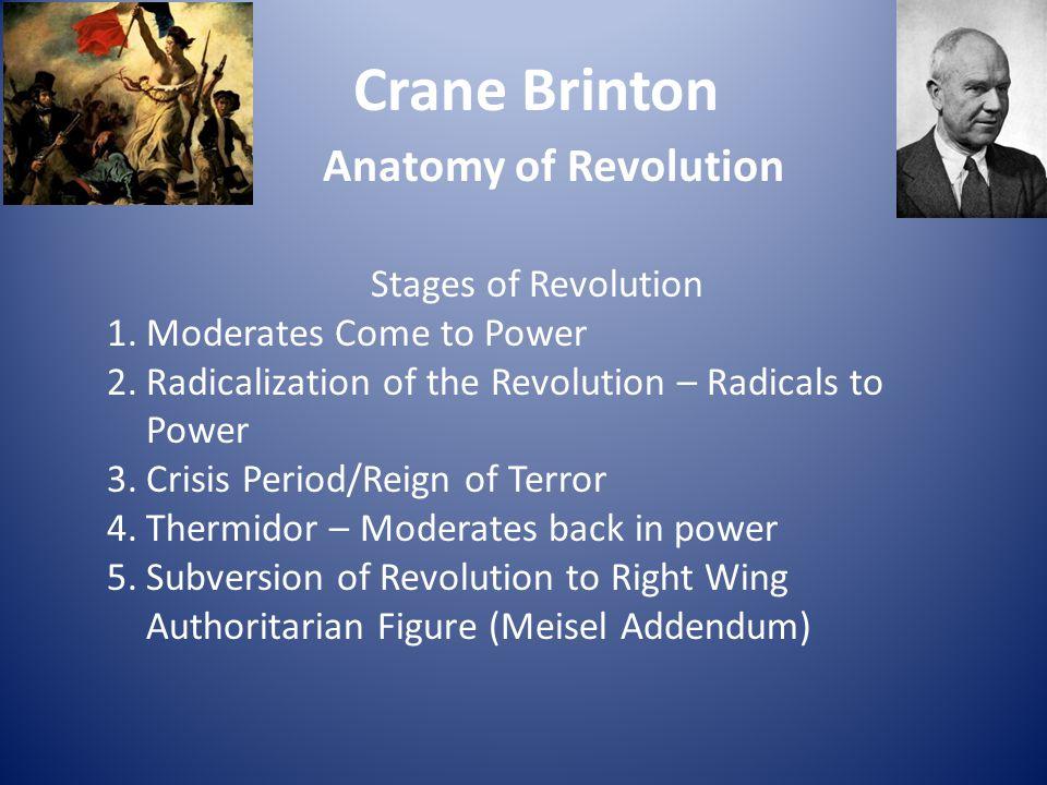 Crane Brinton Anatomy of Revolution Stages of Revolution
