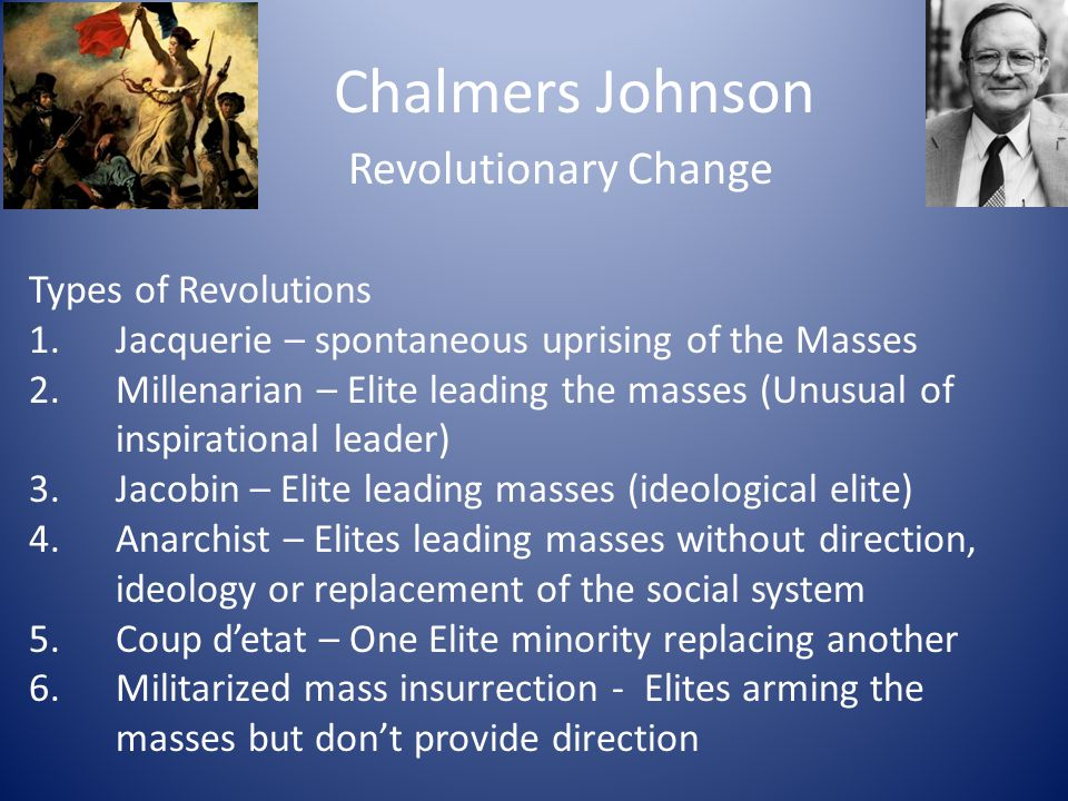 Chalmers Johnson Revolutionary Change Types of Revolutions