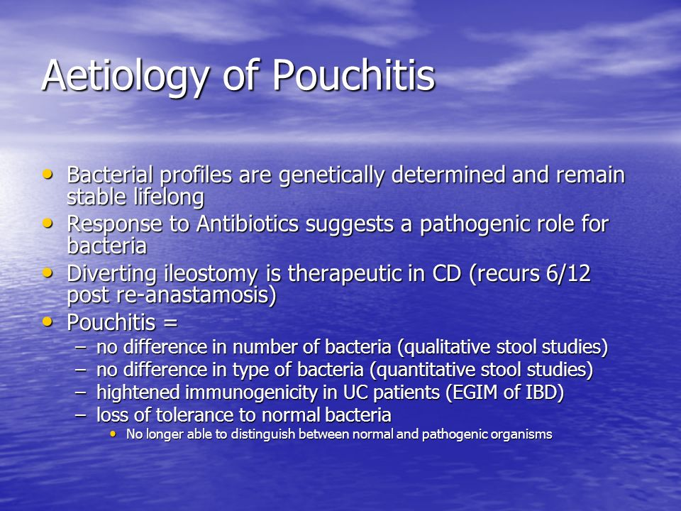 Aetiology of Pouchitis