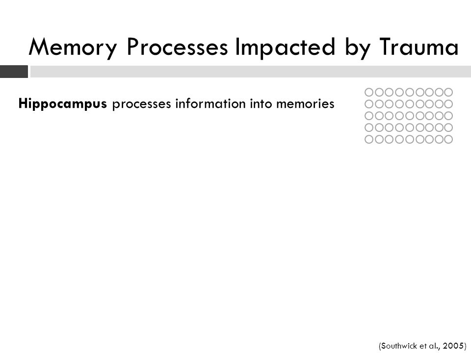 Memory Processes Impacted by Trauma