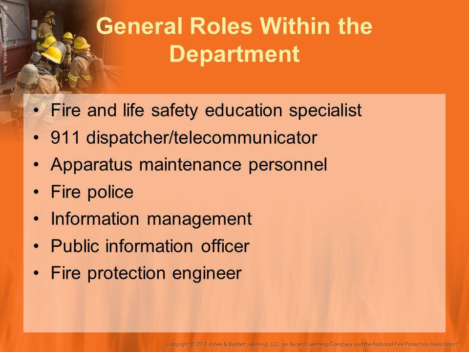 General Roles Within the Department