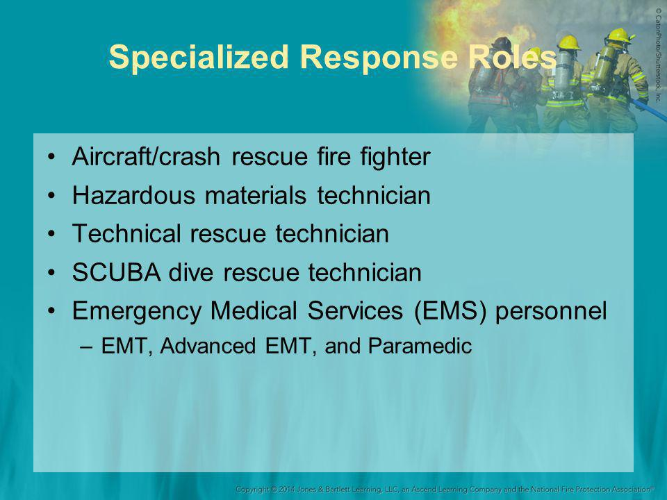 Specialized Response Roles