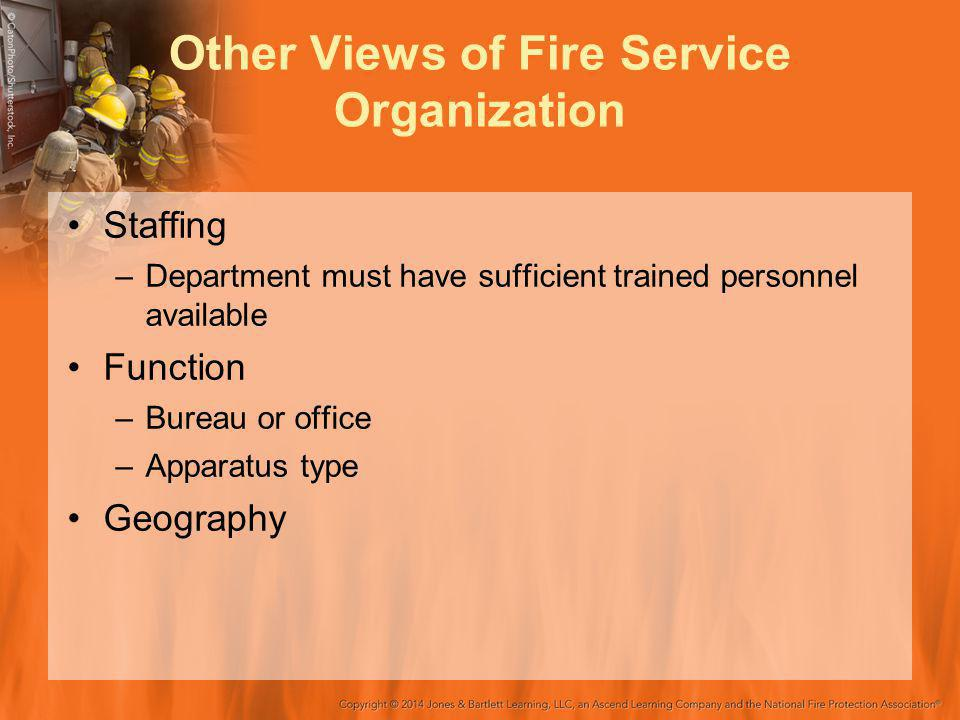 Other Views of Fire Service Organization