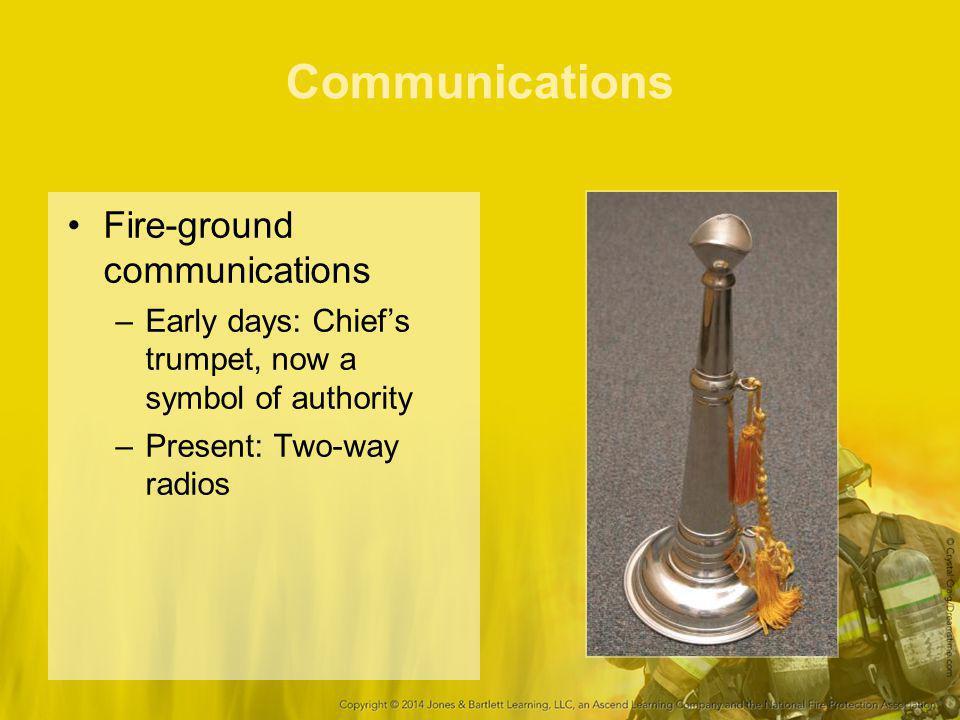 Communications Fire-ground communications
