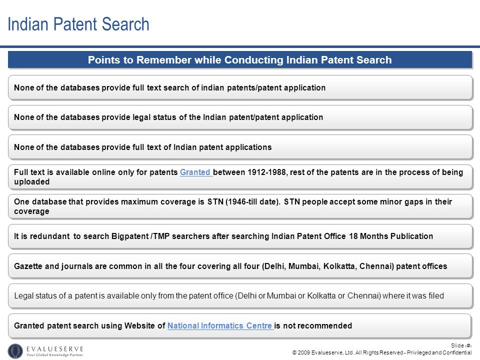 Points to Remember while Conducting Indian Patent Search