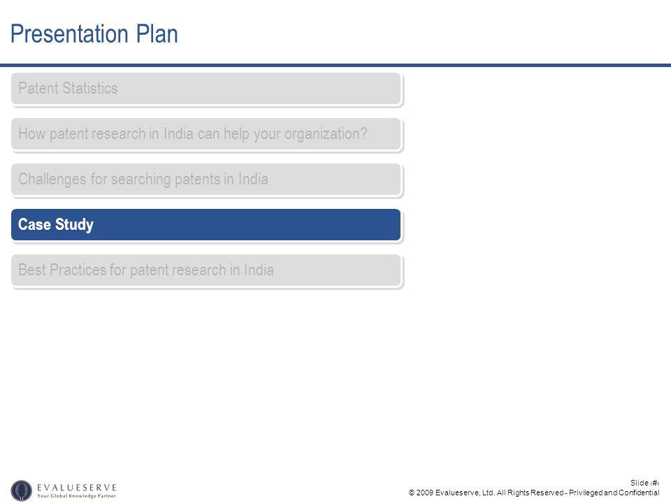 Presentation Plan Patent Statistics