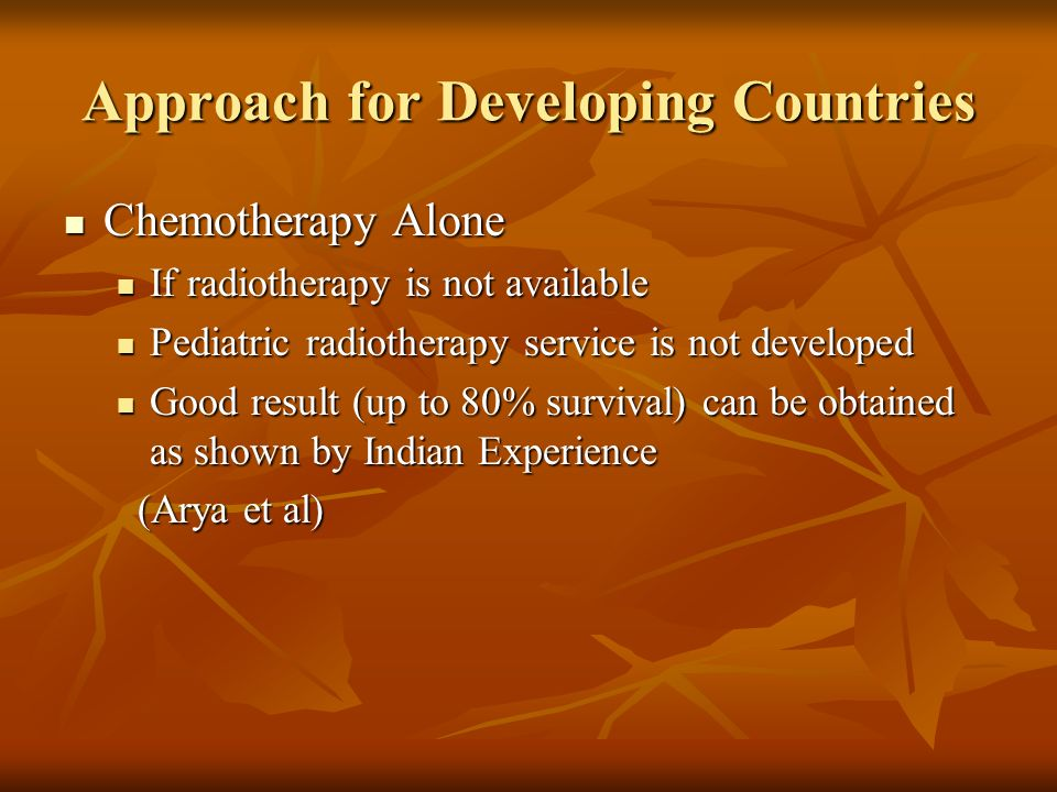 Approach for Developing Countries