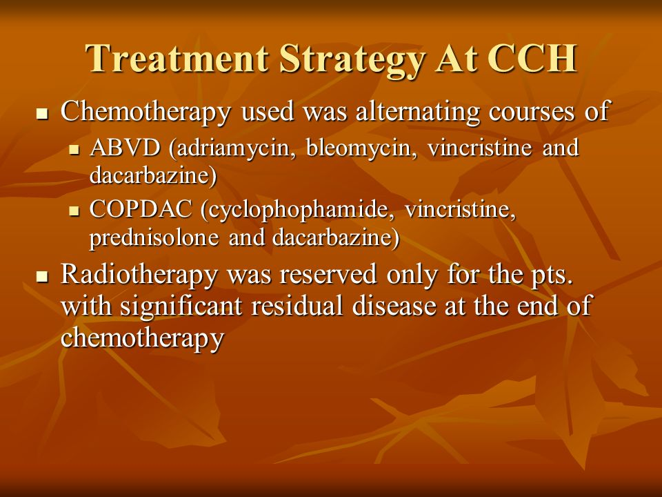 Treatment Strategy At CCH