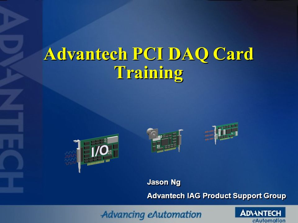 Advantech PCI DAQ Card Training