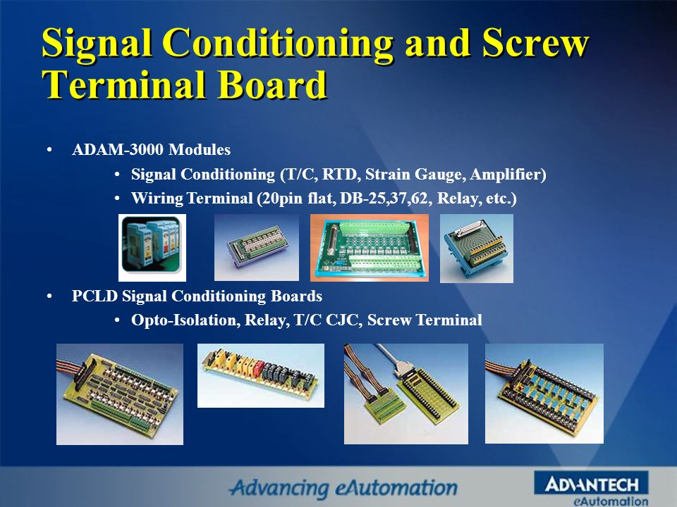 Signal Conditioning and Screw Terminal Board
