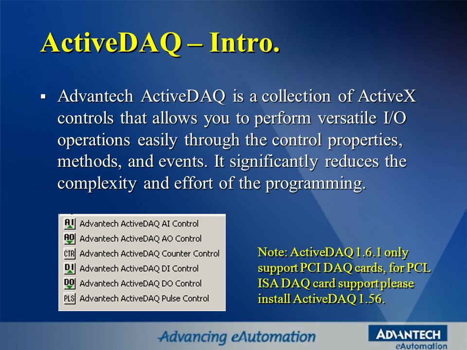 ActiveDAQ – Intro.