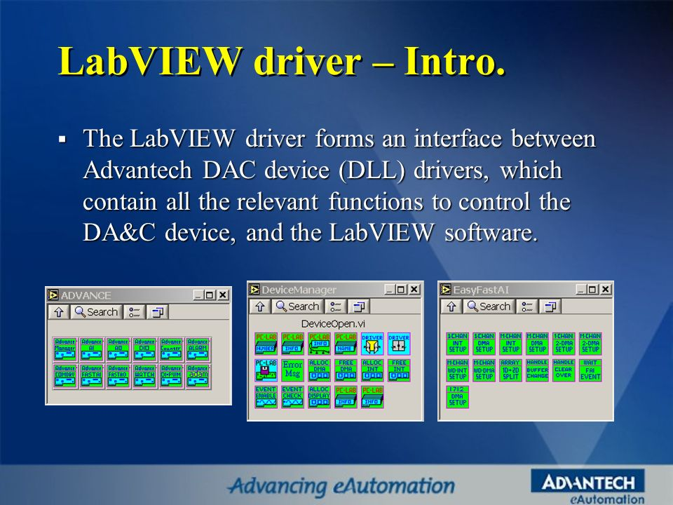 LabVIEW driver – Intro.