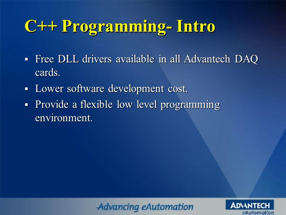 C++ Programming- Intro