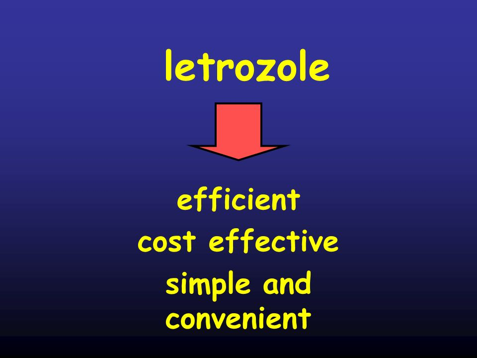 letrozole efficient cost effective simple and convenient