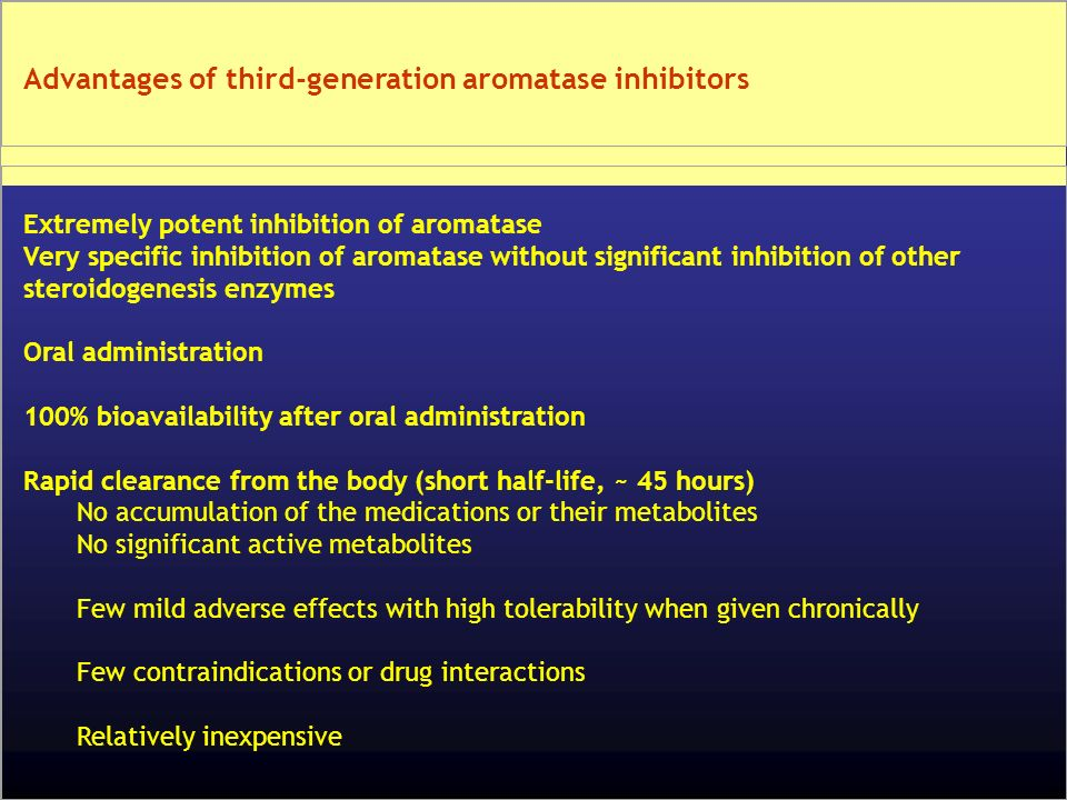 Advantages of third-generation aromatase inhibitors