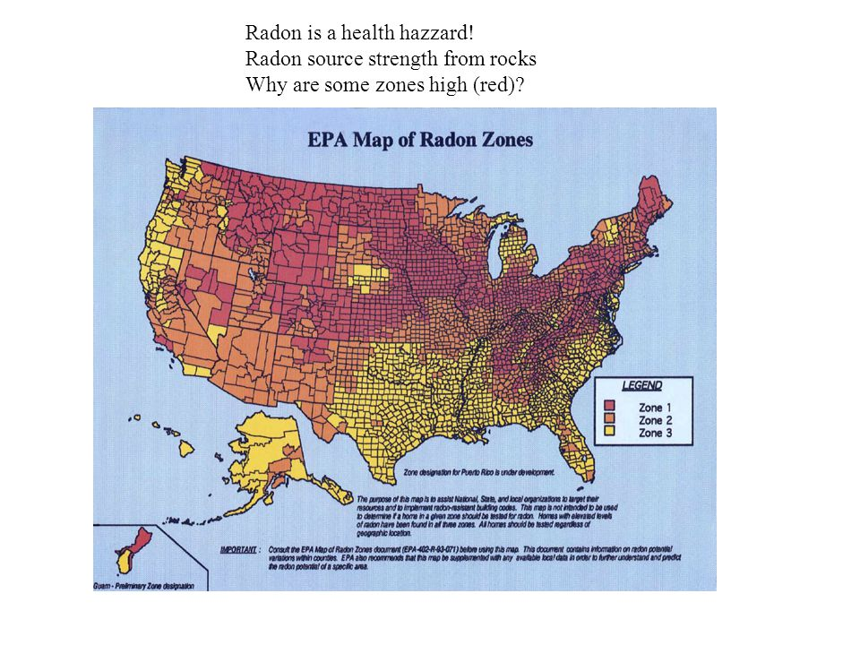 Radon is a health hazzard!